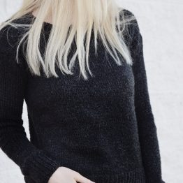 black knit sweater pattern