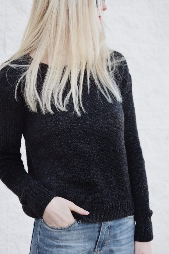 black knit sweater pattern