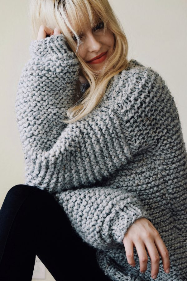 Campfire Sweater Knitting Pattern, Chunky Knit Sweater