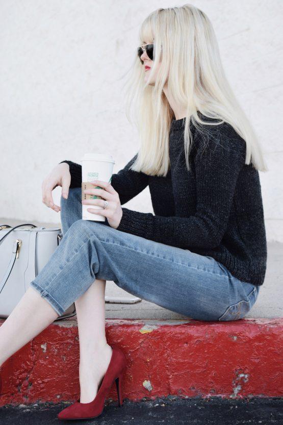 black knit sweater knitting pattern