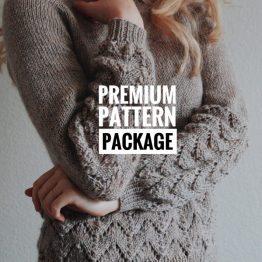 knit pattern sweater raglan lace