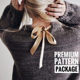 darling jadore knit sweater pattern ribbon