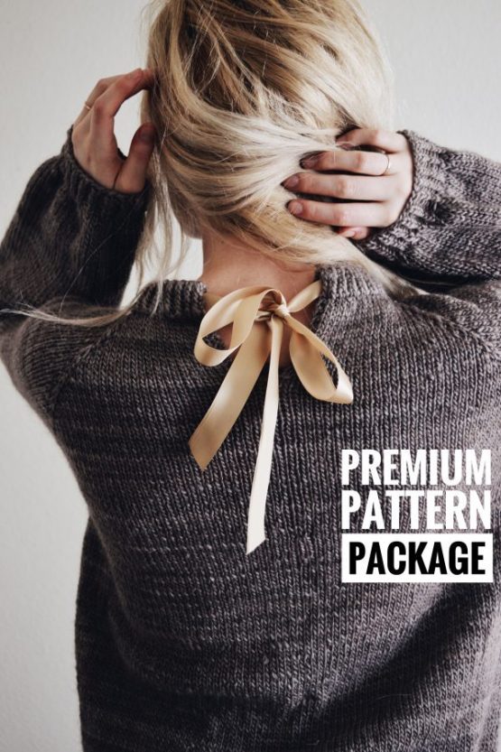 darling jadore knit sweater pattern ribbon