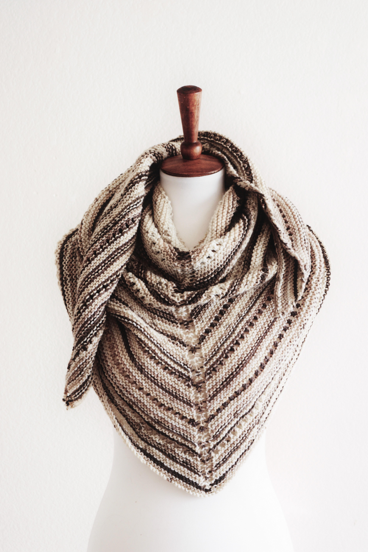 easy knit triangle shawl pattern