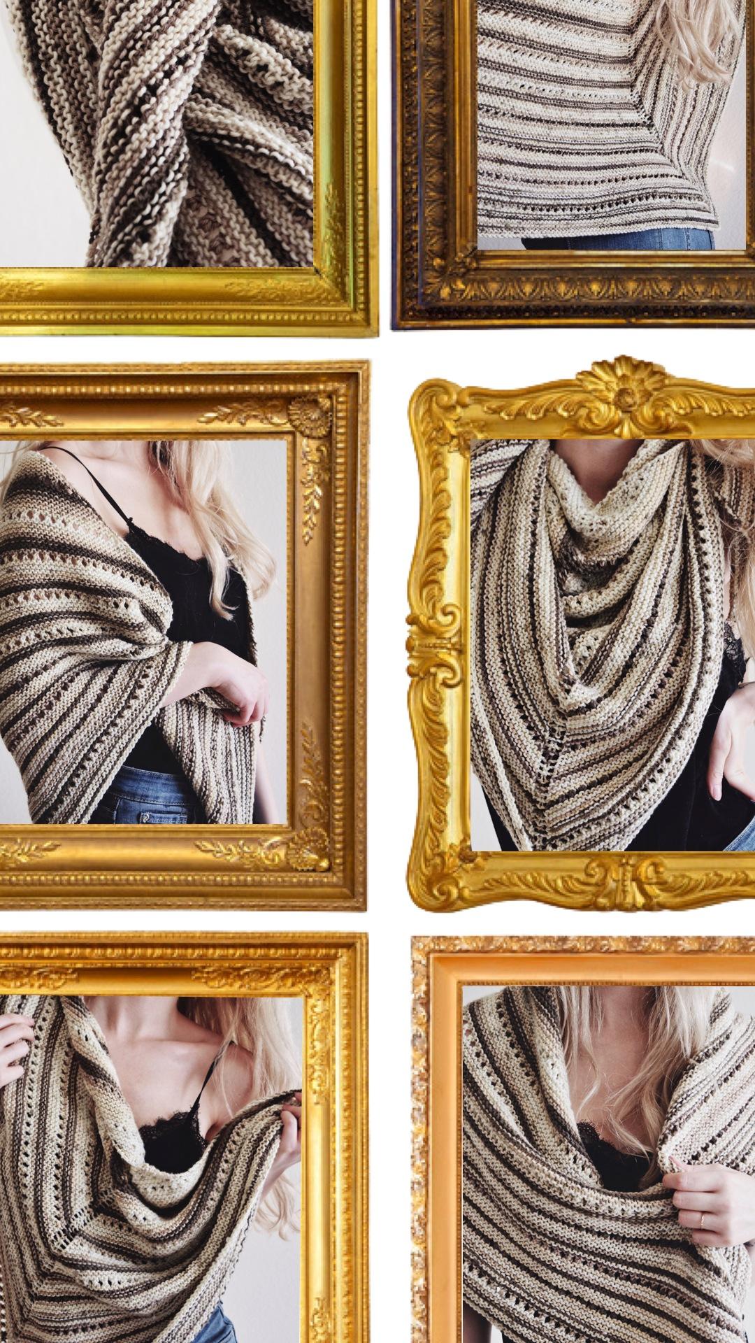 tiramisu shawl knitting pattern darling jadore