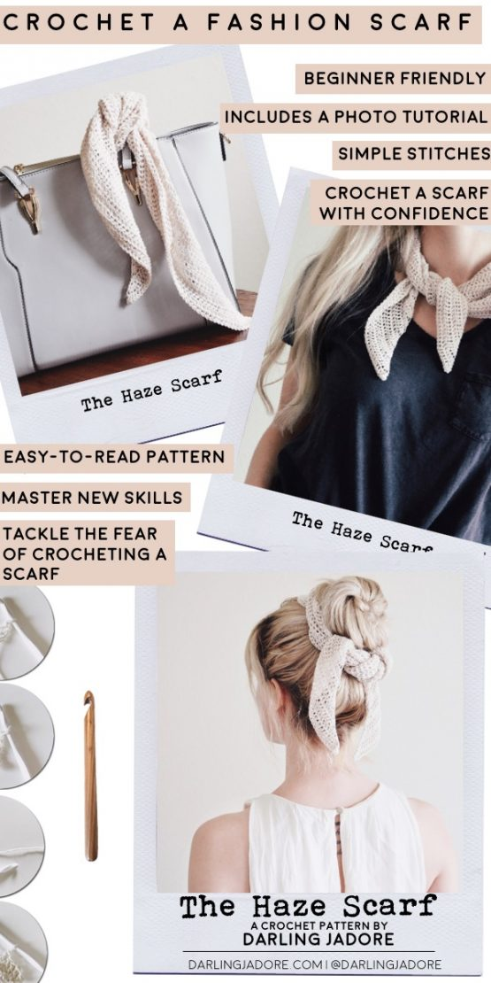 easy summer scarf crochet pattern