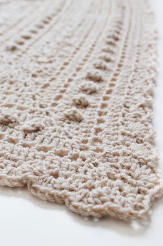 darling jadore crochet bobble scarf pattern