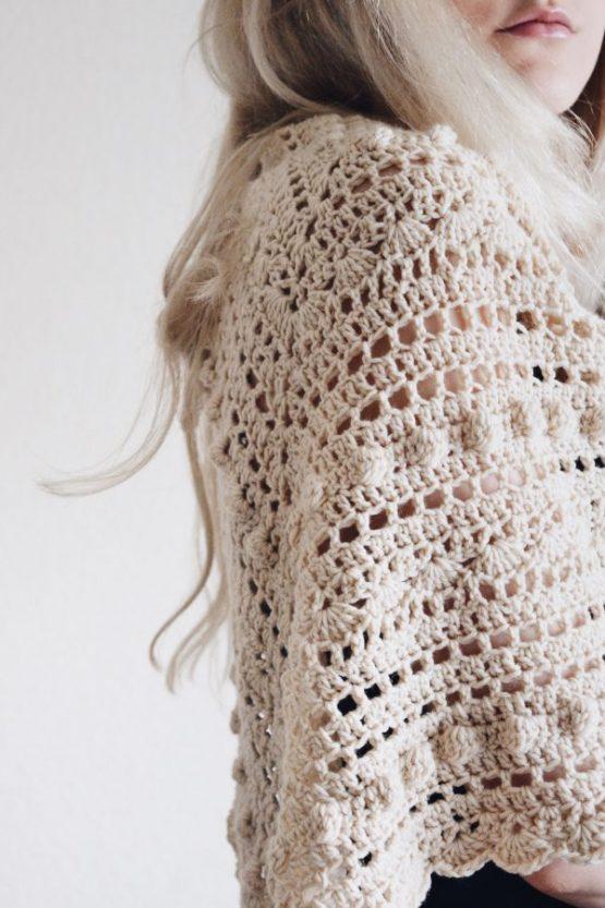 bobble scarf triangle shawl