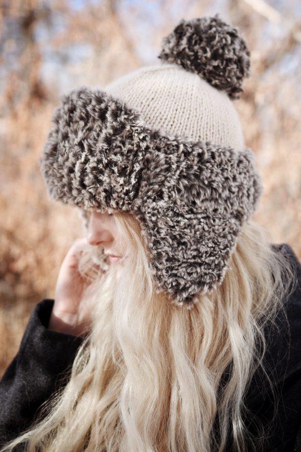 Fur Earflap Hat Knitting Pattern by Darling Jadore | The ...