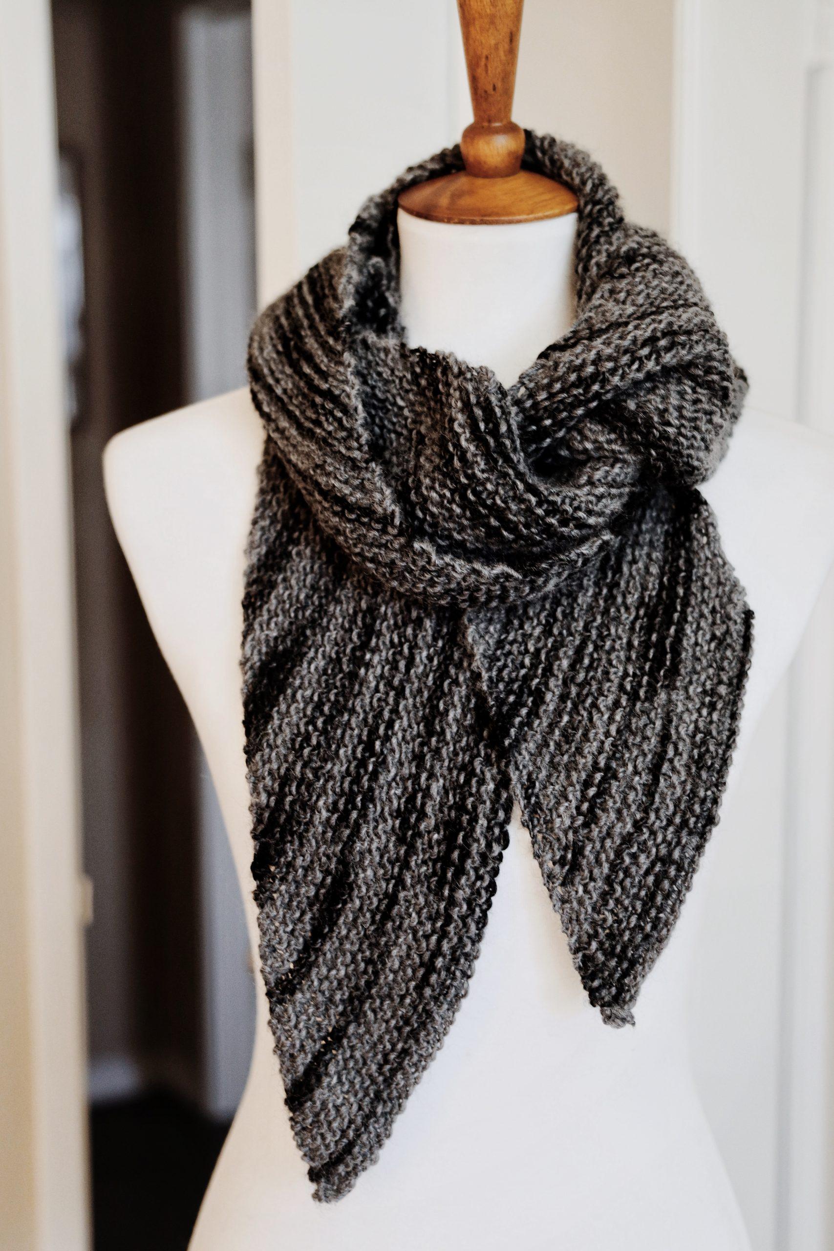 Bias Knit Men's Scarf Knitting Pattern by Darling Jadore ...