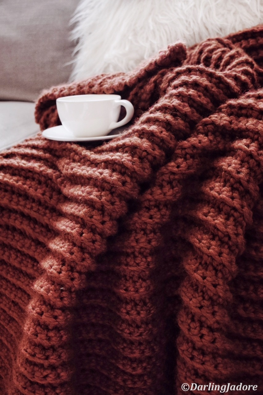 Chunky Blanket Throw Crochet Pattern By Darling Jadore Fireside Throw